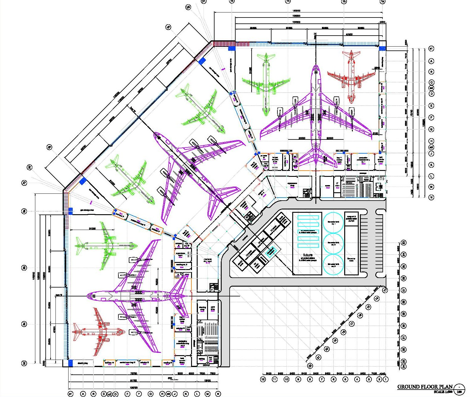 Ndy for Aircraft hanger designs